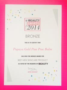 Pure Beauty Award Bronze