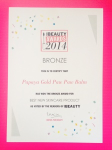 Pure Beauty Award Bronze